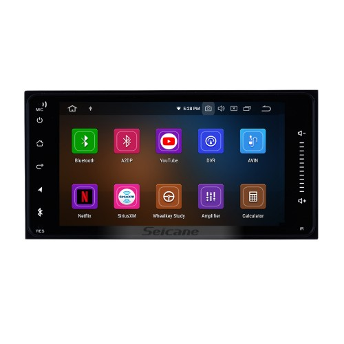 Android 9.0 Aftermarket Radio Universal GPS Navigation System Car Stereo For 1996-2009 TOYOTA PRADO RDS WiFi  Bluetooth USB Steering Wheel Control Backup Camera