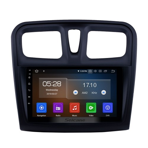 HD Touchscreen 2012-2017 Renault Sandero Android 9.0 9 inch GPS Navigation Radio Bluetooth Carplay support DAB+ OBD2