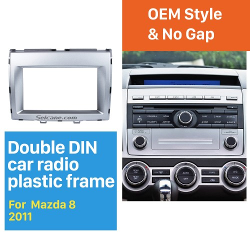 Great Double Din 2006+ Mazda 8 Car Radio Fascia Stereo Installation Dash Mount Audio Frame DVD CD Trim Panel