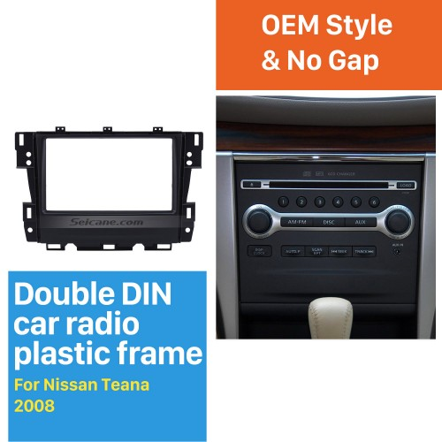Superb Double Din 2008 Nissan Teana Car Radio Fascia Audio Fitting Frame Adaptor Stereo Dash CD Panel Kit