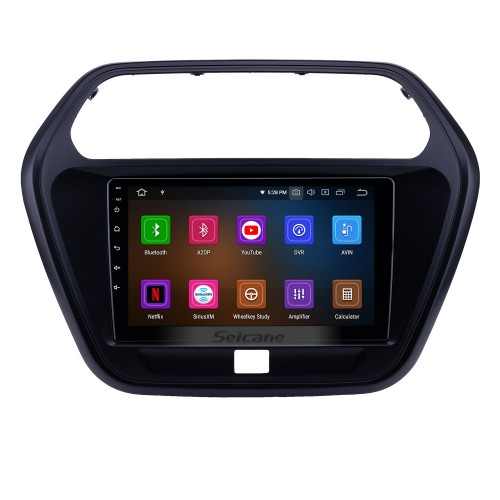 Android 9.0 9 inch GPS Navigation Radio for 2015 Mahindra TUV300 with HD Touchscreen Carplay Bluetooth WIFI AUX support Mirror Link OBD2 SWC