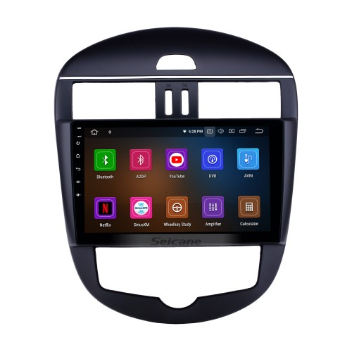 10.1 inch 2011-2014 Nissan Tiida Auto A/C Android 9.0 GPS Navigation Radio Bluetooth HD Touchscreen AUX USB WIFI Carplay support OBD2 1080P