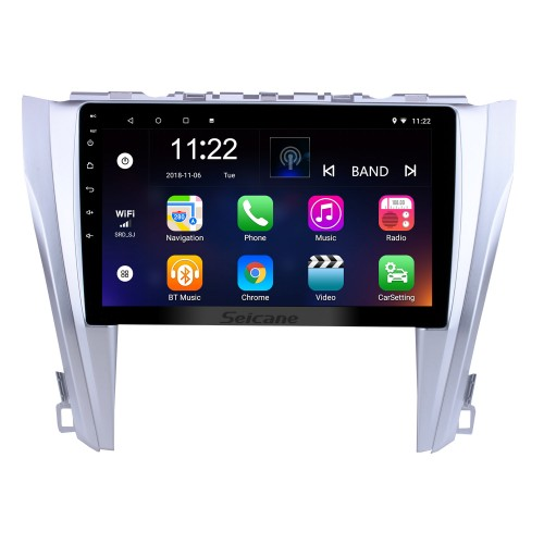 10.1 inch Android 8.1 GPS Navigation System Radio For 2015 2016 2017 Toyota Camry Steering Wheel Control Bluetooth HD Touch Screen TV tuner Rear view