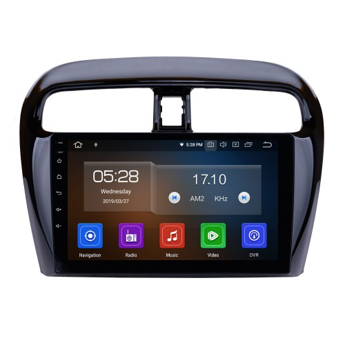 OEM Android 9.0 Radio for 2012-2018 Mitsubishi Mirage Bluetooth GPS navigation system HD Touchscreen WIFI Steering Wheel Control OBD2 Rearview camera TV 1080P