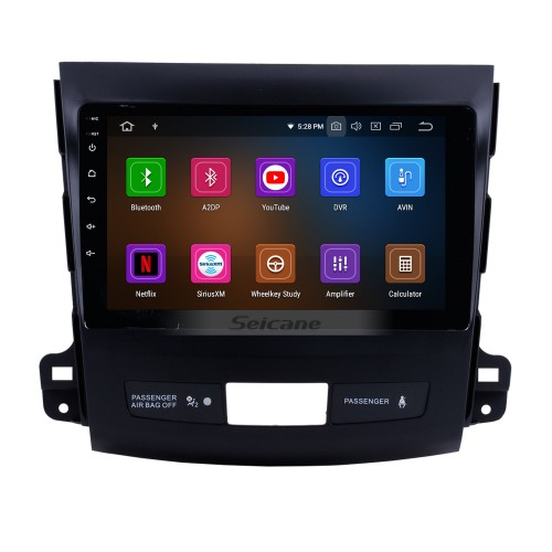 OEM 8 inch Android 5.1.1 Radio GPS navigation system for 2006-2012 Mitsubishi OUTLANDER with DVD player Bluetooth HD 1024*600 touch screen OBD2 DVR TV 1080P Video 3G WIFI Steering Wheel Control USB SD backup camera IPOD Quad-core CPU Mirror link