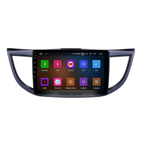 10.1 Inch 2011-2015 Honda CRV high version with screen Android 9.0 Radio GPS Navigation system 3G WiFi Capacitive Touch Screen TPMS DVR OBD II Rear camera AUX Steering Wheel Control USB SD Bluetooth HD 1080P Video