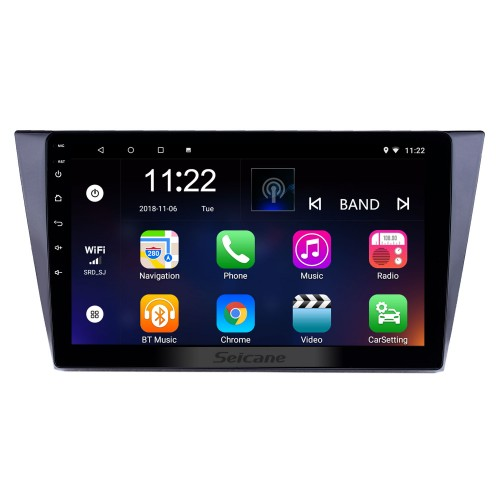 10.1 inch Android 8.1 GPS Navigation Radio for 2016-2018 VW Volkswagen Bora with HD Touchscreen Bluetooth WIFI support Carplay SWC