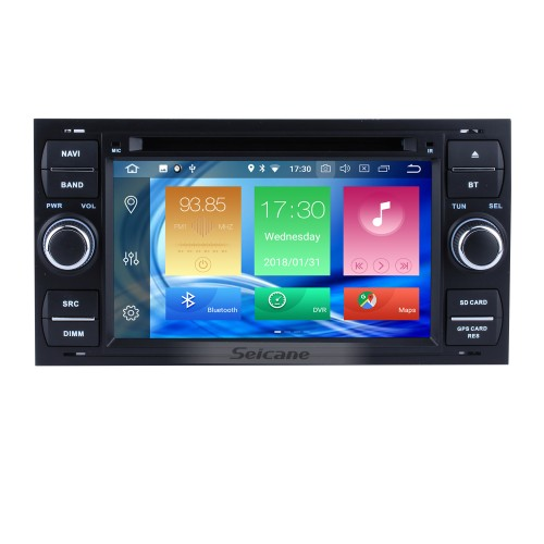 Aftermarket GPS Android 9.0 Radio DVD Player for 2004 2005 2006 2007 2008 Ford Focus Support 3D Navigation Bluetooth USB WIFI Mirror Link DVR Rearview Camera 1080P Video