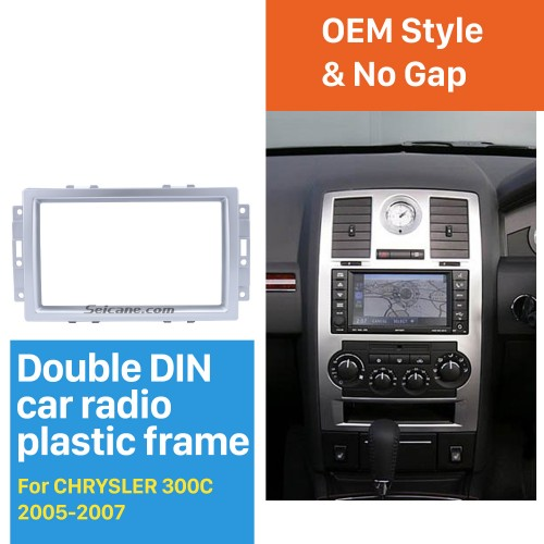 High Quality 2 DIN Car Radio Fascia for 2005-2007 CHRYSLER 300C Dash Vehicle-mounted Stereo Installation Frame Surround Trim Panel Kit