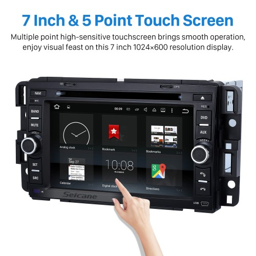 Radio DVD Player Android 8.0 GPS Navigation System for 2009-2011 Chevrolet Chevy Traverse with  Bluetooth Touch Screen DVR WIFI Steering Wheel Control Mirror Link