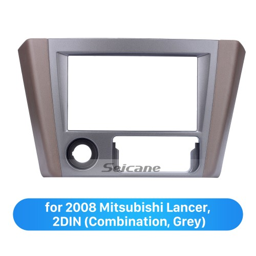 Grey Double Din 2008 Mitsubishi Lancer Car Radio Fascia Dashboard DVD Frame Stereo Dash Kit Installation