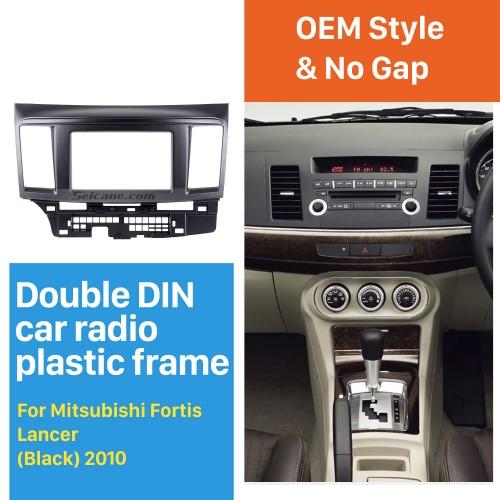 Good Quality Black 2 Din 2010 Mitsubishi Fortis Lancer Car Radio Fascia Auto Stereo Installation Frame CD Trim Panel