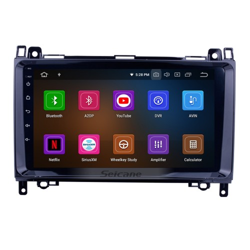 Android 9.0 Autoradio GPS Car A/V System for 2006-2012 Mercedes Benz Viano Vito with 1024*600 HD Touch Screen CD DVD Player AUX 3G WiFi Bluetooth OBD2 Mirror Link Backup Camera Steering Wheel Control