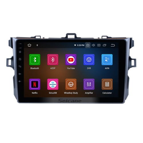 8 inch Android 5.1.1 DVD player GPS navigation system for 2006-2012 Toyota COROLLA with Bluetooth Radio HD 1024*600 touch screen OBD2 DVR TV 1080P Video 3G WIFI IPOD Steering Wheel Control USB SD backup camera Quad-core CPU Mirror link