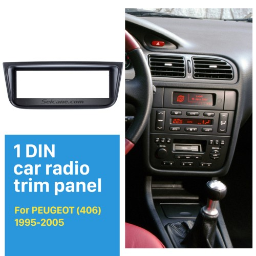 OEM 1 Din Car Radio Fascia for 1995-2005 PEUGEOT 406 Car Styling Stereo Dash CD Fascia Audio Frame Fitting Adaptor