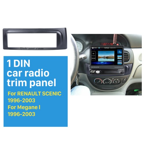 Newest 1 Din car radio Fascia for 1996-2003 RENAULT SCENIC Megane In Dash Mount Kit Adaptor auto stereo installation DVD Frame