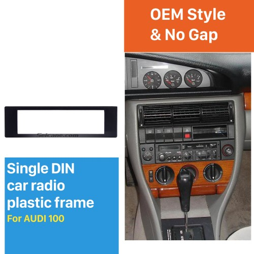 Stylish 1Din Audi 100 Car Radio Fascia Dashboard CD Trim Installlation Kit Stereo Frame Panel DVD Player