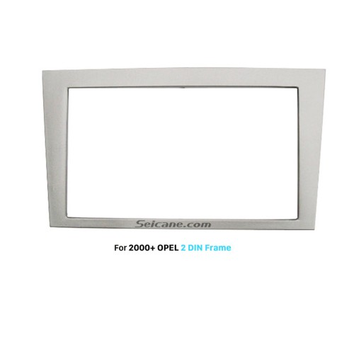 173*98mm Silver Double Din Car Radio Fascia for 2000+ Opel Auto Stereo Frame Interface Trim Bezel Panel Face Plate