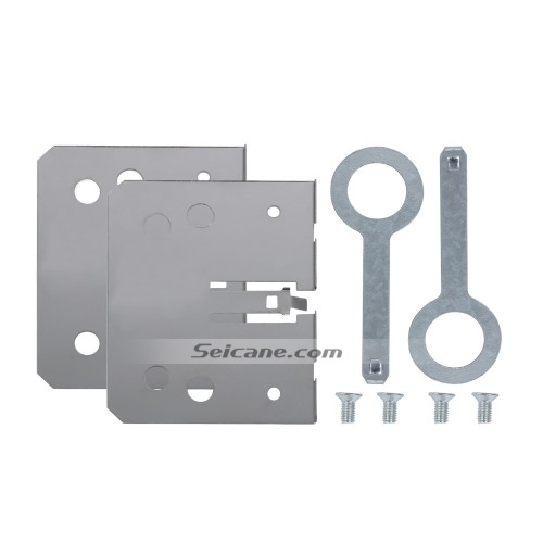 Aluminum Car Universal Panel Installation Mounting Kit Brackets for Radio DVD Player with Disassembly Keys Screws