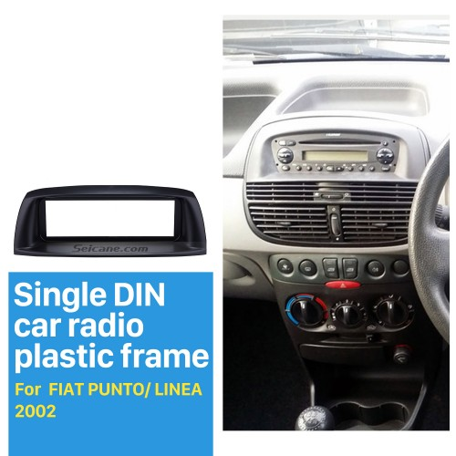 Deluxe 1Din Car Radio Fascia for 2002 FIAT PUNTO LINEA Audio Player DVD Frame Dash Kit Face Plate Panel