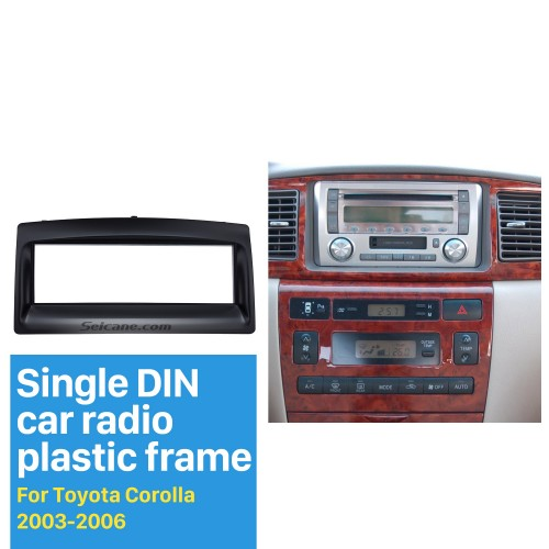 Great 1Din 2003 2004 2005 2006 Toyota Corolla Car Radio Fascia Surround Panel Dash Mount Kit CD Trim Frame