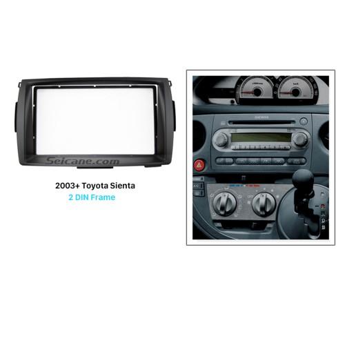 Best Double 2 Din 2003+ Toyota Sienta Car Radio Fascia Stereo Dash Kit Trim Installation Audio Player Frame