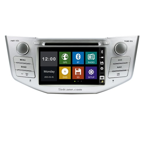 OEM 2004-2012 Toyota Harrier Bluetooth Music Radio DVD Player HD Touchscreen Car Stereo GPS Navigation System Steering Wheel Control 1080P