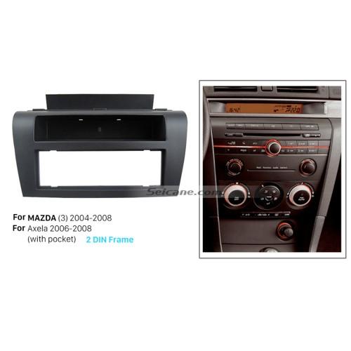 High Quality 1DIN 2004-2008 Mazda 3 Axela Car Radio Fascia Auto Stereo CD Trim Panel Car Kit Dash Installation Refit Frame