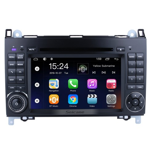 Android 9.0 Radio Head Unit 7 Inch HD Touchscreen For 2004-2012 Mercedes Benz B Class W245 B200 C Class W203 S203 C180 C200 CLK Class C209 W209 C208 W208 Car Stereo DVD Player GPS Navigation System Music Bluetooth 4G WIFI Support 1080P Video Backup Camera
