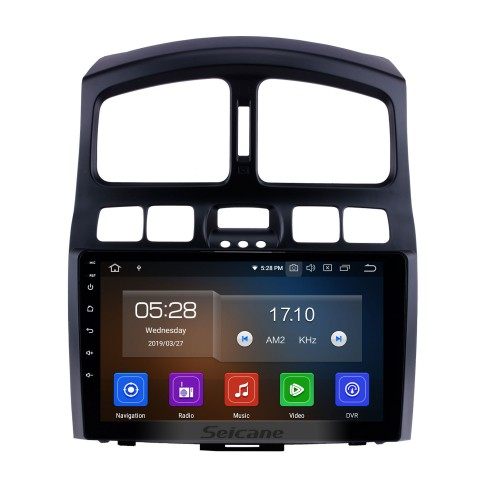 HD Touchscreen 9 inch Android 10.0 GPS Navigation auto Stereo for 2005 2006 2007 2008 2009-2015 Hyundai Santa Fe Bluetooth Phone Mirror Link WIFI USB Carplay support DVR