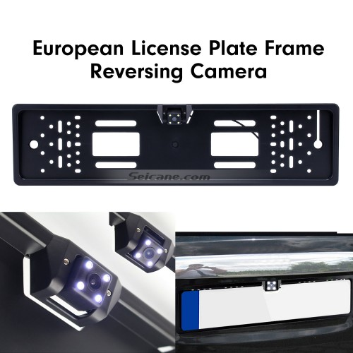 170 Degree HD Wide Angle Large Viewing Night Vision Waterproof Universal European License Plate Rearview Backup Camera Car Parking Reversing Assistance system