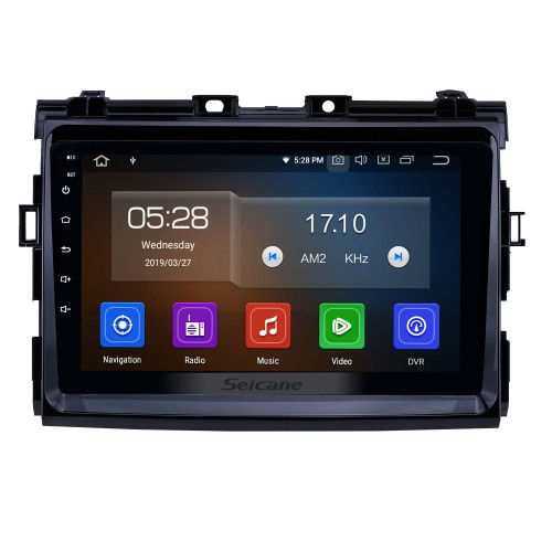 OEM 9 inch Android 10.0 Radio for 2006-2012 Toyota Previa Bluetooth HD Touchscreen GPS Navigation Carplay USB support 4G WIFI Rearview camera OBD2