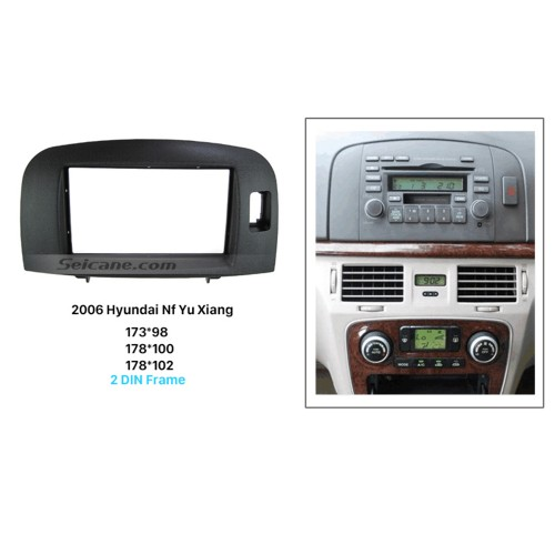 Perfect Double Din 2006 HYUNDAI NF YU XIANG Car Radio Fascia Trim Installation DVD Frame panel Stereo Interface
