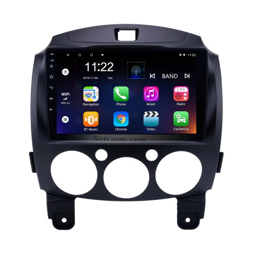HD Touchscreen 9 inch Android 10.0 GPS Navigation Radio for 2007-2014 MAZDA 2/Jinxiang/DE/Third generation with Bluetooth support OBD2 DVR 1080P