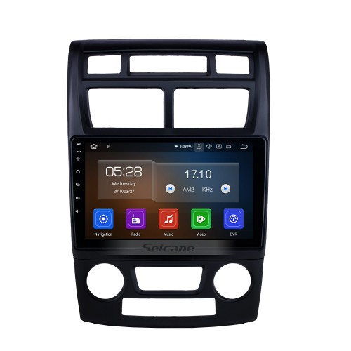 OEM 9 Inch Android 10.0 Bluetooth Radio for 2007-2017 KIA Sportage Manual A/C GPS Navi HD Touchscreen Stereo support 4G WIFI RDS USB DVR DVD Player 1080P