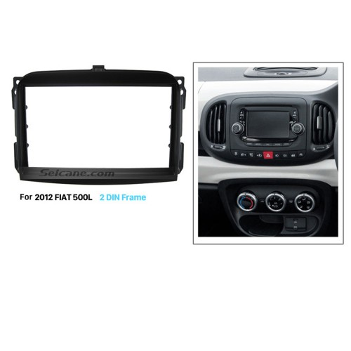Nice Double Din Car Radio Fascia for 2012 FIAT 500L Auto Stereo Adapter Install Frame Dash Installation Kit