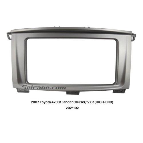 Superb 2Din 2007 Toyota 4700 Lander Cruiser VXR HIGH-END Car Radio Fascia Dash Frame CD Face Plate Audio Player