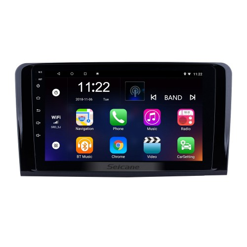 9 Inch For 2005-2012 Mercedes Benz ML CLASS W164 ML350 ML430 ML450 ML500 Android 8.1 Capacitive Touch Screen Radio GPS Navigation system Bluetooth TPMS DVR OBD II Rear camera AUX USB SD 3G WiFi