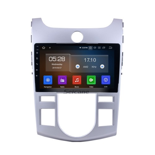 9 inch for 2008-2012 KIA FORTE/CERATO (AT) Auto Air-Conditioner version Android 10.0 Radio GPS Navigation system 1080P Video Bluetooth Music USB Rearview Camera 4G WIFI OBD2 Mirror Link