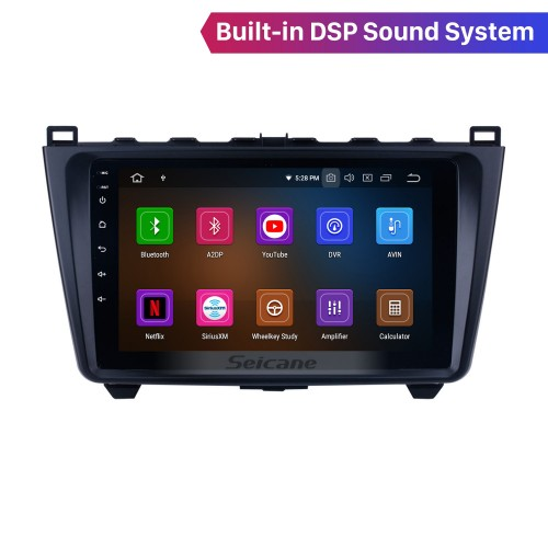 10.1 inch for 2008-2015 Mazda 6 Rui wing Android 10.0 Radio GPS Navigation System with full 1024*600 Touchscreen Bluetooth Mirror link TPMS OBD2 DVR Rearview camera TV carplay