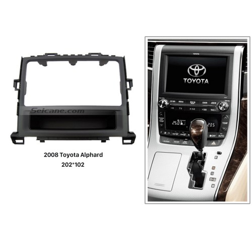 Good Quality 2Din 2008 Toyota Alphard Car Radio Fascia Vehicle-mounted DVD Player Dashboard Trim Panel Installation Frame Kit