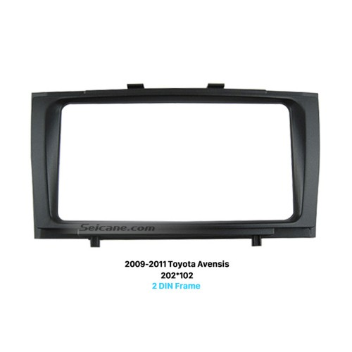 Luxuriant Double Din 2009 2010 2011 Toyota Avensis Car Radio Fascia Face Plate CD Trim Frame In Dash Mount Kit