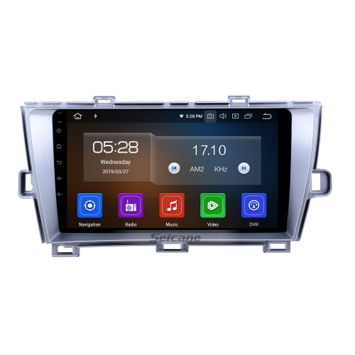 HD Touchscreen 2009-2013 Toyota Prius RHD Android 10.0 9 inch GPS Navigation Radio Bluetooth AUX USB WIFI Carplay support Rear camera