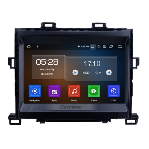 HD Touchscreen 2009-2014 Toyota Alphard/Vellfire ANH20 Android 10.0 9 inch GPS Navigation Radio Bluetooth Carplay support Steering Wheel Control