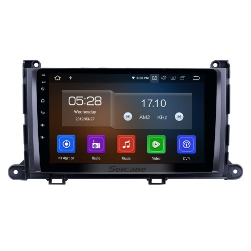 9 inch 2009-2014 Toyota Sienna Android 10.0 GPS Navigation Radio Bluetooth HD Touchscreen AUX Carplay Music support 1080P Video Digital TV Rear camera
