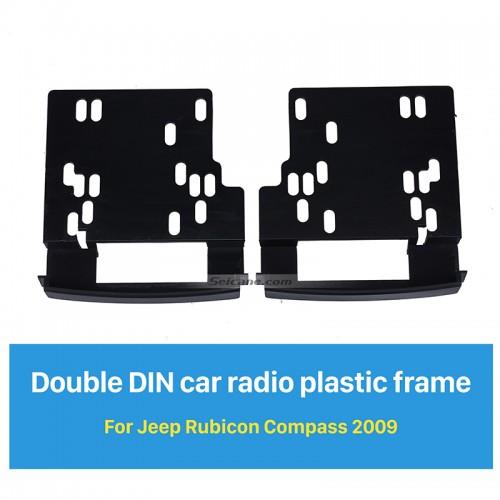 173*98mm 2Din Car Radio Fascia for 2009 Jeep Rubicon Compass Decorative Frame Dash CD Fitting Kit Installation