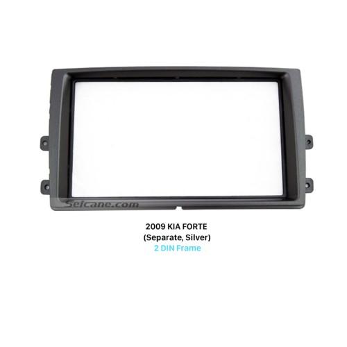 Separate Double Din 2009 KIA FORTE Car Radio Fascia Dash Mount Car refitting DVD frame Panel Kit