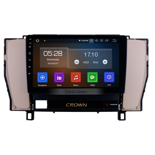 9 inch Android 10.0 HD Touch Screen GPS Navigation System Radio 2010 2011 2012 2013 2014 Toyota old crown LHD with Bluetooth USB Support 3G/4G Wifi Digital TV Mirror Link  Steering Wheel Control