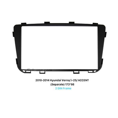 Separate 2Din 2010-2014 HYUNDAI VERNA I-25 ACCENT Car Radio Fascia DVD panel Face Plate Dash CD Frame