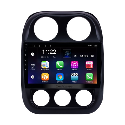 2010-2016 Jeep Compass Android 8.1 GPS Navigation 10.1 inch HD Touchscreen Radio Bluetooth Mirror Link WIFI USB support Steering Wheel Control 3G Carplay Rearview